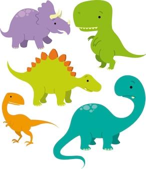 Dinosaurier-vektor-bild-pack