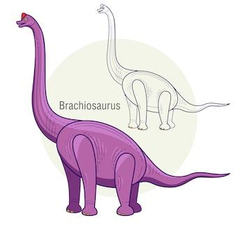 Dinosaurierbrachiosaurus.