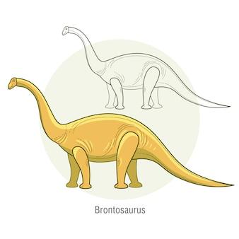 Dinosaurierbrontosaurus