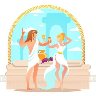 Dionysos und ariadne altgriechischer gott und göttin