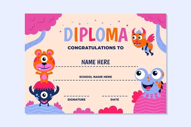 Diplom-vorlagenkonzept für kinder