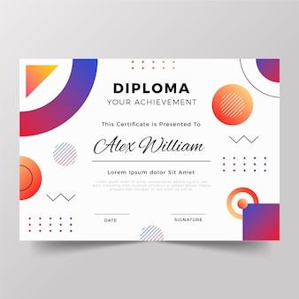 Diplom-vorlagenkonzept