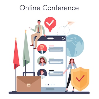 Diplomat online-service oder plattform