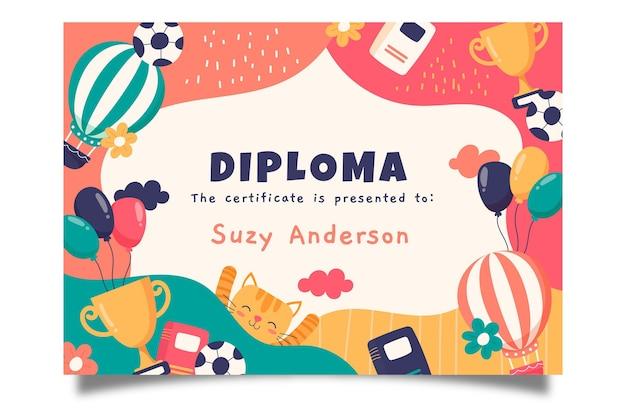 Diplomvorlage für kinder