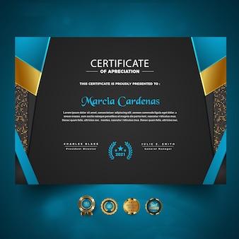 Diplomvorlagenkonzept luxusdesign
