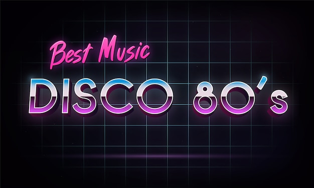Disco 80's beste musik - banner.