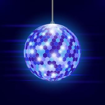 Disco ball. illustration. hintergrund. party nachtclub