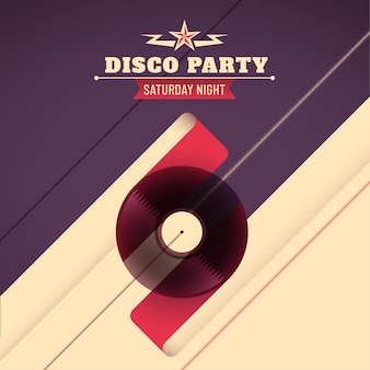 Disco-party-hintergrund