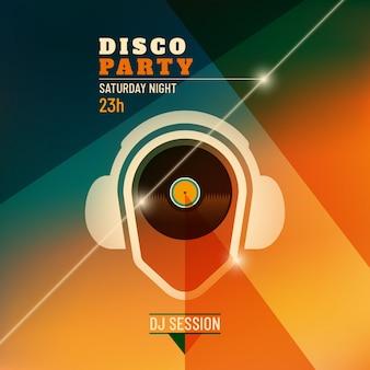 Disco-party-hintergrund