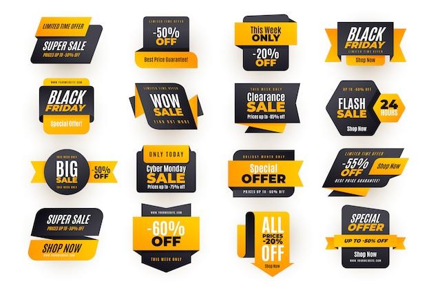 Discount sale banner sammlung