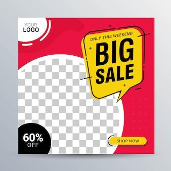 Discount sale banner social media post vorlage