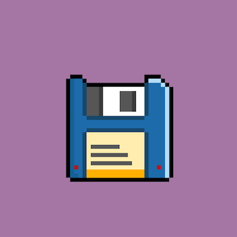 Diskette mit pixelart-stil