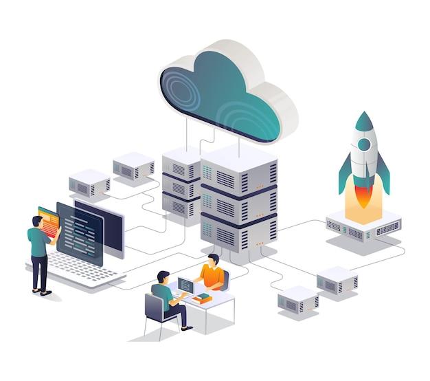 Diskussion im webentwicklungsteam und raketenstart
