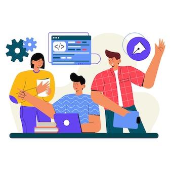 Diskussion über project flat illustration