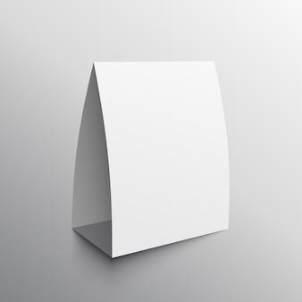 Display-karte leere mockup-vorlage