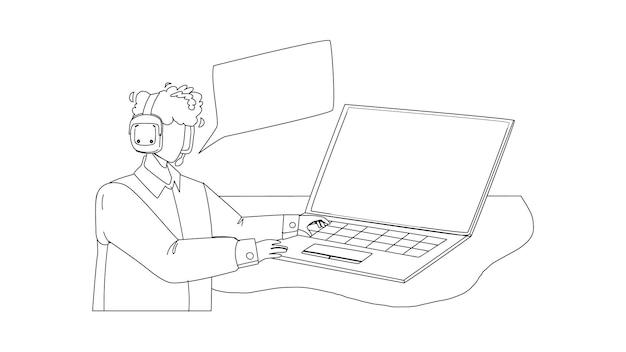 Disponent spricht mit client am computer