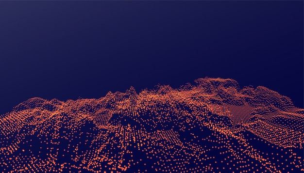 Ditial partikel hintergrund im leuchtenden stil