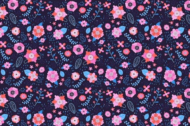 Ditsy blumendruckhintergrund des textilgewebes