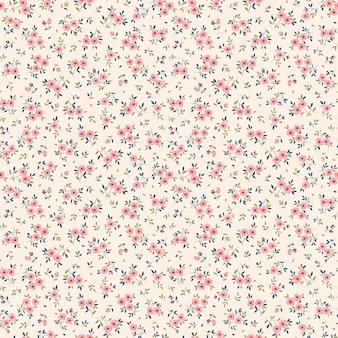 Ditsy blumenmuster in kleinen rosa blumen nahtloser hintergrund für modedruck