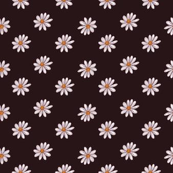 Ditsy nahtloses muster mit kleiner gänseblümchenblume