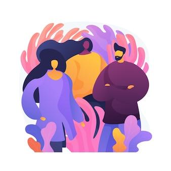 Diverse personengruppe. professionelle unternehmer, kreatives geschäftsteam, erwachsene freunde. junger selbstbewusster mann und frauen, kollegen, die zusammen stehen.