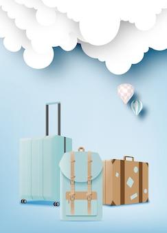 Diverse tasche und gepäck für die reise