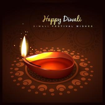 Diwali 3d festival diya design