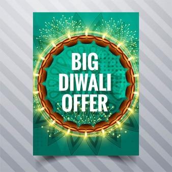 Diwali angebot broschüre