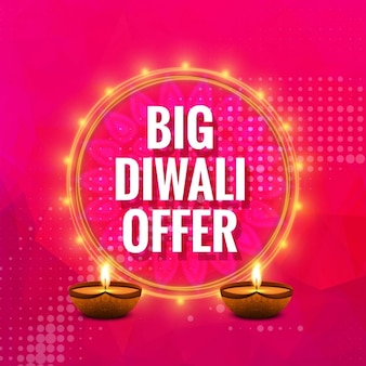 Diwali angebot hintergrund