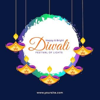 Diwali banner design vorlage