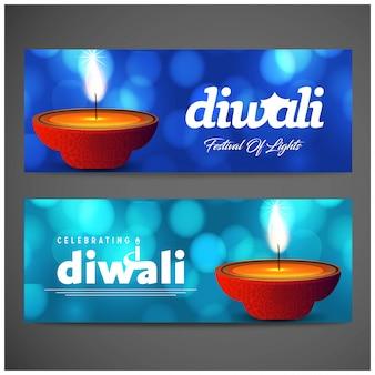 Diwali banner hintergrund