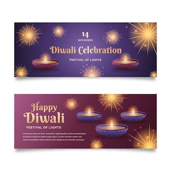 Diwali banner vorlage