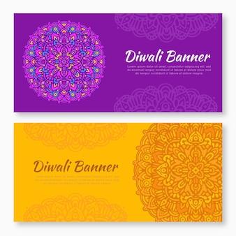 Diwali bannersammlung