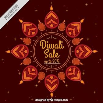 Diwali braunen hintergrund der abstrakten formen