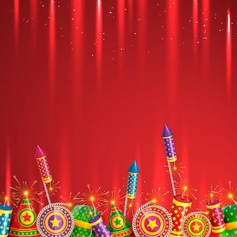 Diwali cracker hintergrund