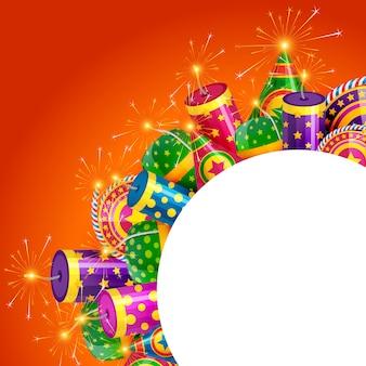 Diwali cracker rahmen
