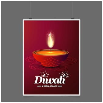 Diwali design dunklen hintergrund und typografie vektor