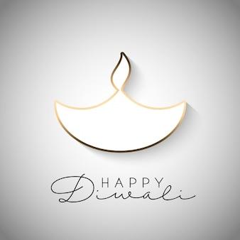 Diwali feier hintergrund mit brennenden lampe design
