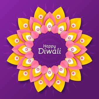 Diwali-feier im papierstil