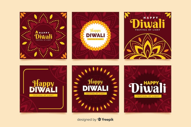 Diwali-feier instagram beitragssammlung