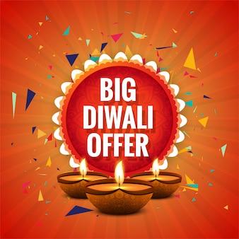 Diwali festival angebot big sale hintergrund template design