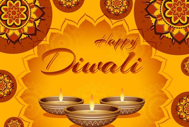 Diwali festival grußkarte