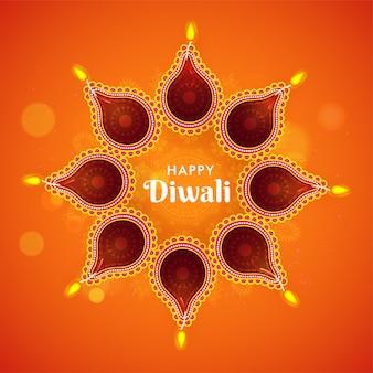Diwali festival hintergrund.