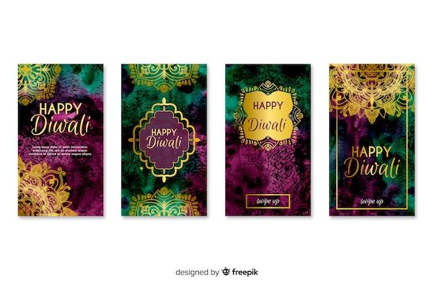 Diwali festival instagram geschichten