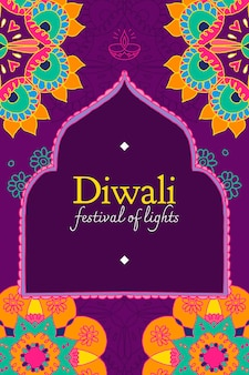 Diwali festival of lights vorlagenvektor