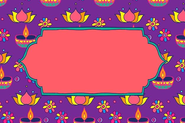 Diwali festival rangoli indianerrahmen
