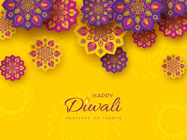 Diwali festival urlaub design.