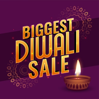 Diwali großes verkaufsfahnenplakat-design teample