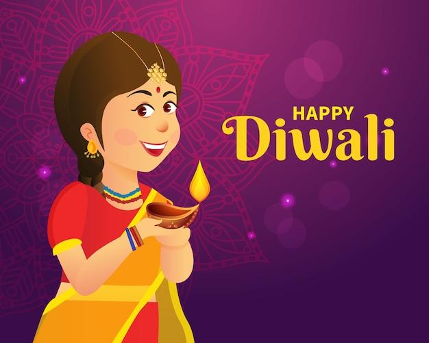Diwali grußkonzeptentwurf
