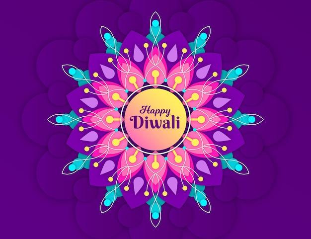 Diwali hintergrund im papierstil
